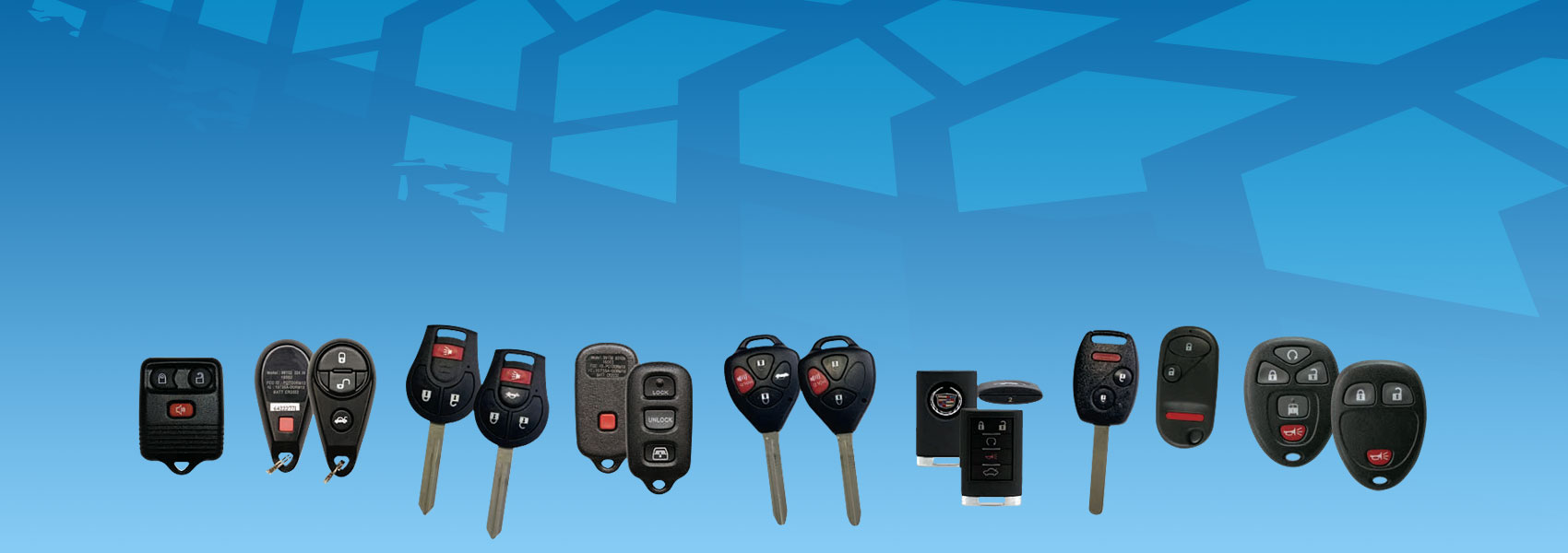 Remote keyless entry, remote head keys and proximity remotes.